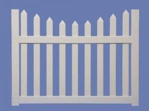 4 X 5 CONTEMPORARY SCALLOP WALK GATE FOR 4 HIGH 7/8 X 3 PICKET SHARP – WHT