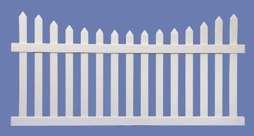 4 X 8 CONTEMPORARY SCALLOP SECTION 7/8 X 3 PICKET SHARP-  WHT