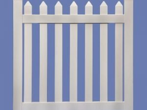 4 X 4 CONTEMPORARY STRAIGHT WALK GATE FOR 4 HIGH 7/8 X 3 PICKET SHARP – WHT